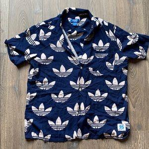 Adidas logo button down tee